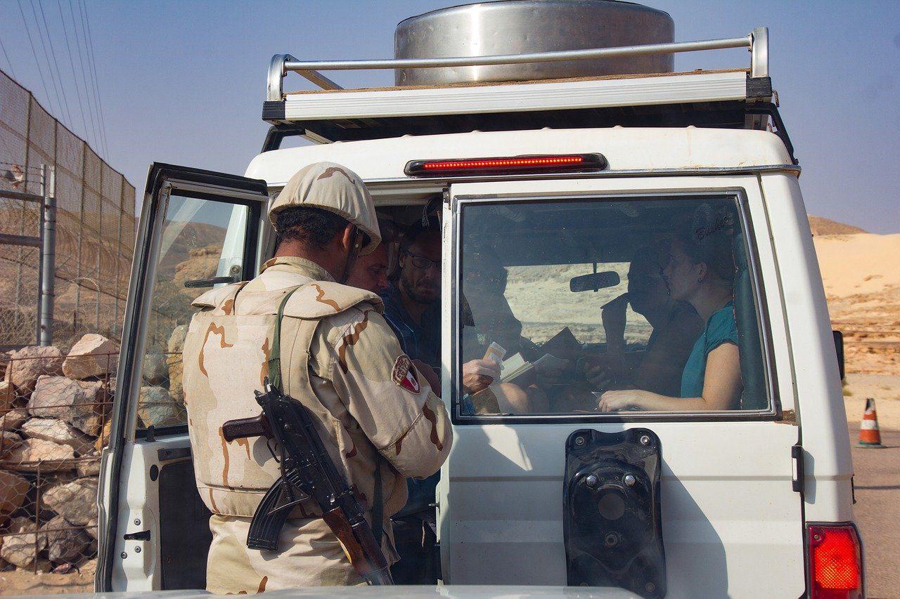 Ägypten Sicherheit Grenze Kontrolle Border Controll